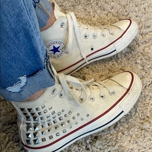 Converse All Star studded high top size 6.5